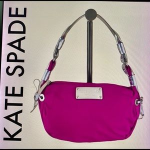 ⬇️$100 KATE SPADE stylish red silver hobo …